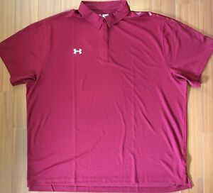 UNDER ARMOUR GOLF POLO UA PLAYOFF BREATHABLE SHIRT UPF 30 ANTI ODOR TECH NWT