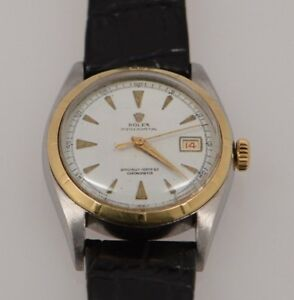 Men's Vintage Gold Capped Rolex Oyster Perpetual Watch wCertified Chronometer