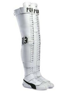Puma Women's Eskiva Over The Knee By Rihanna Thigh-high Leather Boot SIZE 8 12
