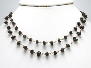 Andrea Fohrman Black Diamond Necklace 14kt Rose Gold