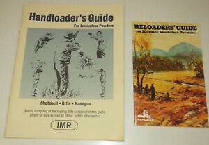 Lot of 2 Reloader's Guide for Smokless Powders Hercules IMR shotshell rifle