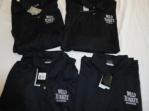 Lot of 4 Nike Golf Shirt Dri Fit Wild Turkey Bourbon XL XXL 2XL Black NewTag
