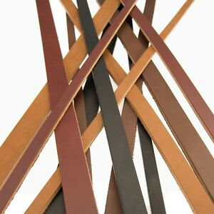 Full Grain Harness Bridle Leather Heavy Duty Straps Strips 1 2 3 4 or 1 width