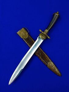 Antique German Germany French France 18 Century Hunting Dagger Knife w Scabbard
