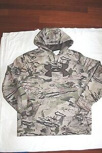 Men's Under Armour Cold Gear Hunting Camo Hoodie Hooded Sweatshirt Size XL EUC