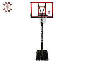 BRAND NEW SURE SHOT - ADJUSTABLE BASKETBALL STAND PADDED POLE & ACRYLIC BOARD