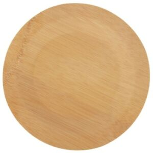 Brheez BAMBOO Heavy Duty Disposable Compostable Party Plates - (7