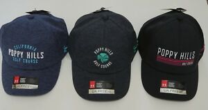 * Under Armour Womens Golf Hat Cap UA Free Fit Poppy Hills Various Colors