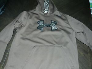 Mens Under Armour Storm Hoodie Brown Camo XL