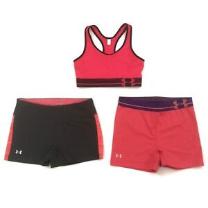 UNDER ARMOUR ACTIVE YOGA WOMEN SIZE SM ATHLETIC RACERBACK TOP RUNNING SHORTS