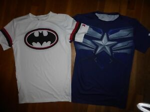 5 Under Armour Alter Ego Compression MENS XL T Shirts Spider Man Stone Cold WWE