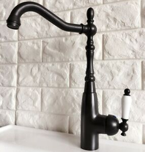 Oil Rubbed Bronze Single Ceramic Handle Bathroom Sink Faucet Mixer Tap znf379