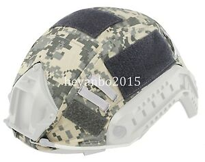 TACTICAL SERIES AIRSOFT PAINTBALL GEAR COMBAT FAST MILITARY HELMET COVER - ACU