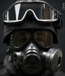 Tactical Airsoft CS Wargame Cosplay M88 Helmet DUMMY M04 Gas Mask Goggles BLACK