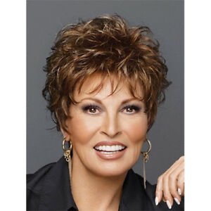 Top Grade Women Chic Short Cut Fluffy Curly Hairstyle Synthetic Hair Wigs