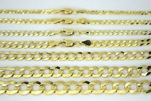 14K SOLID GOLD CUBAN LINK CHAIN NECKLACE FOR MEN WOMEN 2~11.5mm 16~36