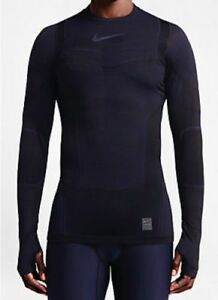Nike Pro Hyperwarm Dri-FIT Max Compression Black Shirt 700873 MEDIUM  $150