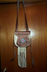 BLACK POWDER MOUNTAIN MAN  BEAVER TAIL ROSETTE  LEATHER POSSIBLE BAG