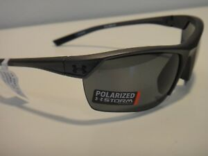 Under Armour Zone 2.0 Strom Satin Carbon Sunglasses With Gray Polarized Lenses