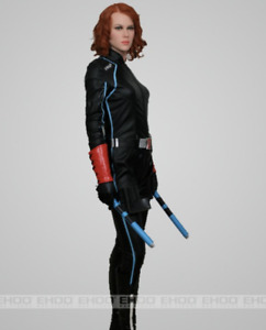 Life Size Black Widow Avenger Movie Wax Statue Realistic Prop Display Figure 1:1