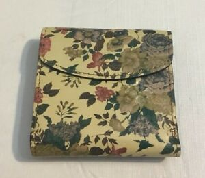 Patricia Nash Tri Fold Floral Leather Womens Wallet Coin Purse Snap Clasp