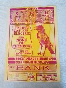 Pacific Gas electric Illinois Speed Press Bank Torrance Sons of Champlin Poster