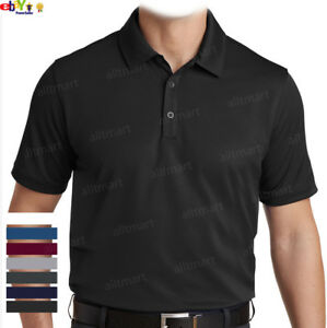 MENS CASUAL DRY FIT SPORT PLAIN POLO SHIRT COOLING GOLF 100% POLYESTER S 3XL $17.09