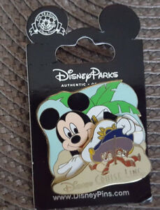 Disney Cruise Line DCL Pin Captain Mickey Mouse Chip Dale Under Hat New On Card $14.60