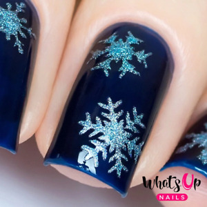 Gold Merry Snowflakes Stencils for Nails Christmas Nail Stickers NailVinyls $3.75