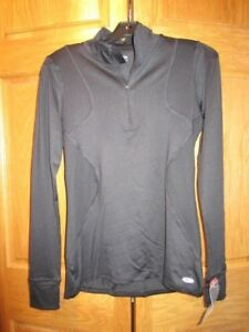 Womens Sz Sm Champion 14 Zip Fitted Athletic LS Shirt Premium Duo Dry Max NWT
