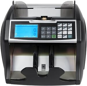 Money Cash Machine Front Load Fast Counter Counterfeit Bill Detector Digital