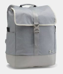 Under Armour Women's UA Downtown Backpack Laptop Book Bag Gray NEW!