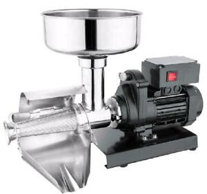 Commercial Grade Electric Tomato Berry Strainer Milling Strain Press Machine