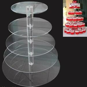5 Tier Cake Stand Round Cupcake Holder Tower Display Wedding Birthday Party Tool