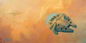 ACME ARCHIVES STAR WARS GICLEE ON CANVAS BY ROB KAZ quot;ESCAPE FROM CLOUD CITYquot; $249.99