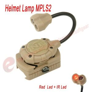 Tactical Shooting Helmet Lamp Hunting Airsoft Light MPLS2 IRGreenRed Fit Molle