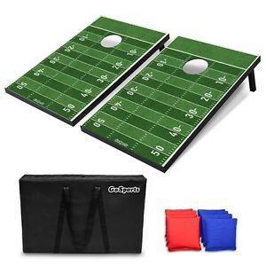 GoSports Portable Tailgate Cornhole Boards Game Set Football Edition 3x2 $69.99