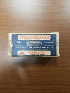 antique winchester .38 Colt new police ammunition cardboard box (box only)
