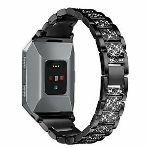 Metal Bands for Fitbit Ionic Replacement Band with Rhinestone Bling Adjus