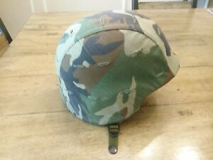 U.S. MILITARY HELMET MADE WITH KEVLAR HELMET SIZE L-3 & COVER!!! NICE!!!