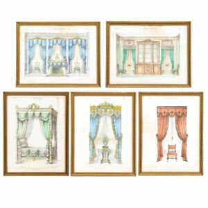 Antique 19th Century Louis XVI French Lithographs Le Garde-Meuble Set of Ten $1,850.00