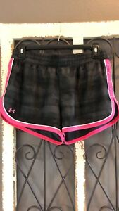 Under Armour Women's Athletic Shorts BlackPinK Dry Fit Liner Running Workout MD
