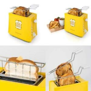 Toaster for Grilled Cheese Sandwich 2 Slice Oven Cooker Retro Vintage Yellow New
