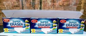 SUPER ERASER CLEANING PAD - REMOVES WALL SCUFFS CRAYON, MARKER- Set of 6