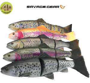 Savage Gear 4D Line Thru Trout 30cm  40cm 5 Colours Pike Muskie Rubber Lure