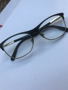 D&G Dolce Gabbana Designer Eyeglass Reading Glasses Frames Black Gold