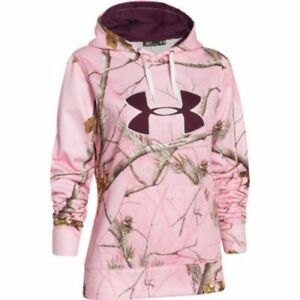 Under Armour women's Realtree pink Camo Hoodie Sweatshirt size SMALL