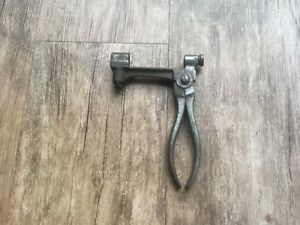 antique vintage old reloading tool. Frankford arsenal J.H. Gill decapping 1882.