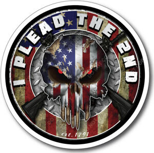Skull Decal Gun Rights Sticker 2nd Amendment Come Take Them USA American Flag
