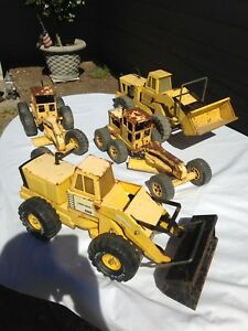 Lot 4 Classic Tonka Mighty Diesel Loader Vtg Pressed Steel Construction 20